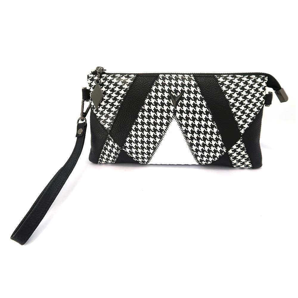 Patchwork Croc & Quilted PU Leather Clutch Bag